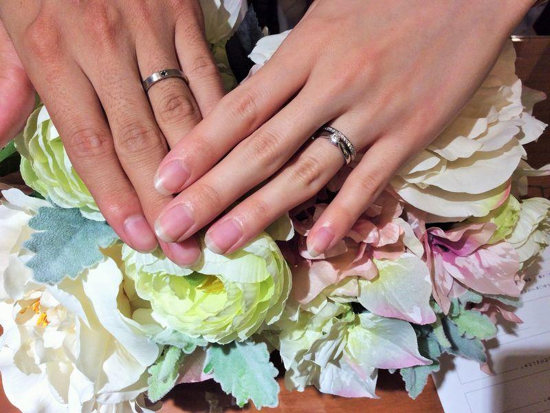 パヴェオショコラ結婚指輪