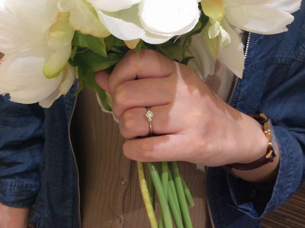 明石市【gardenオリジナル】婚約指輪をご成約いただきました。