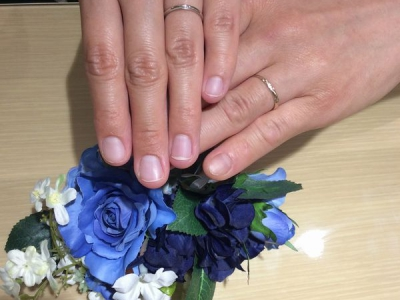 プライベートビーチ結婚指輪