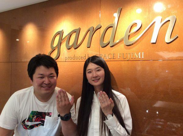 姫路市「FISCHER」結婚指輪をご成約いただきました。