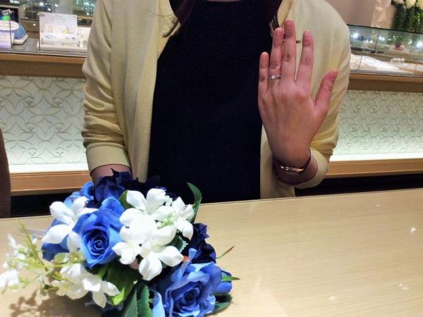 高砂市&加古川市「gardenオリジナル」の婚約指輪をご成約頂きました。