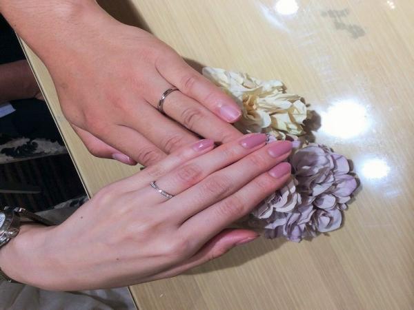 神戸市「et.lu」「Quand de Mariage」の結婚指輪をご成約頂きました。