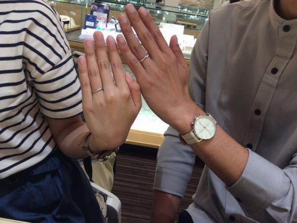 姫路市&加古川市「Mariage ent」の結婚指輪をご成約頂きました。