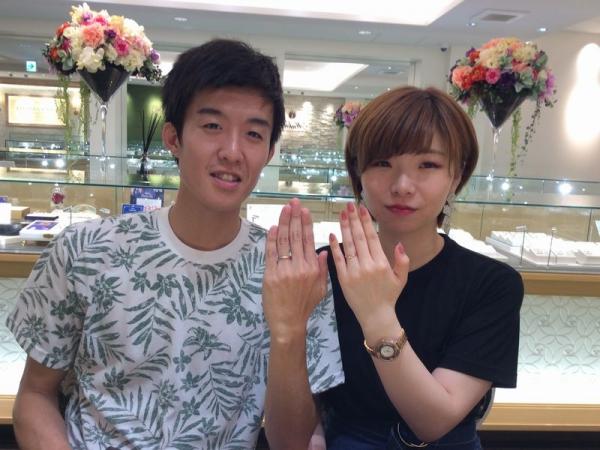 姫路市「Private beach」の結婚指輪をご成約頂きました。