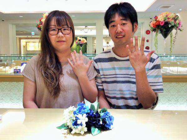 姫路市「Passage」「et.lu」の結婚指輪をご成約頂きました。