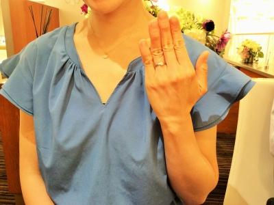 ラパージュ婚約指輪ダリア