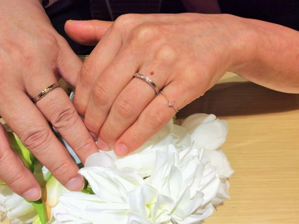 朝来市『パッサージュ』の結婚指輪をご成約いただきました。
