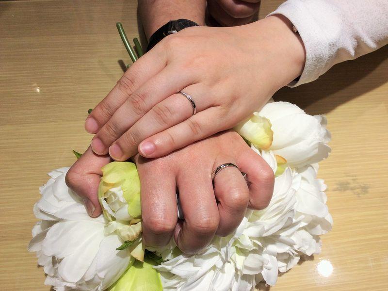 キャンドル結婚指輪