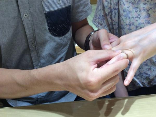 かき氷の結婚指輪ひな