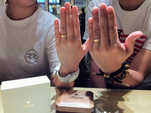 姫路市『Makana』の結婚指輪をご成約いただきました。