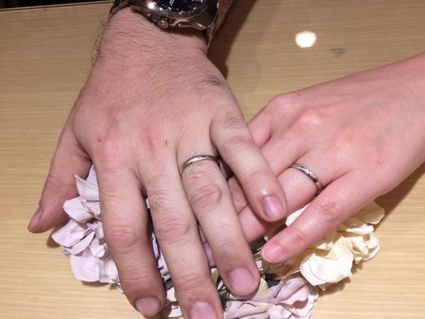 パイロットブライダル結婚指輪プレッジ