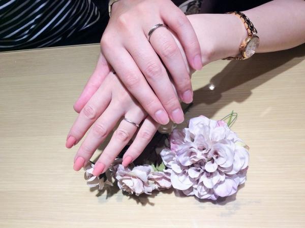 姫路市「ミルク&ストロベリー」の結婚指輪をご成約