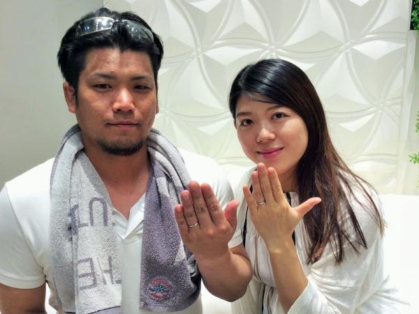 神崎郡『IROノHA・LAPAGE』結婚指輪をご成約いただきました。