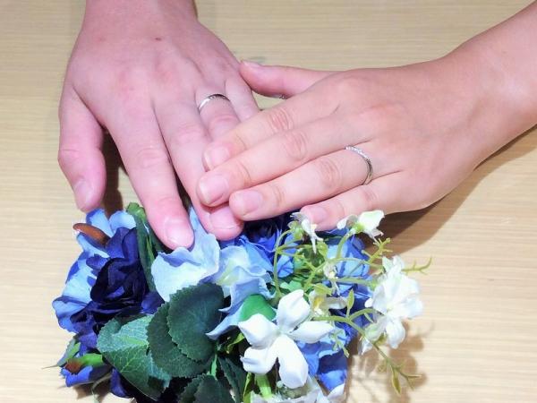 明石市『マリアージュエント』結婚指輪をご成約いただきました。