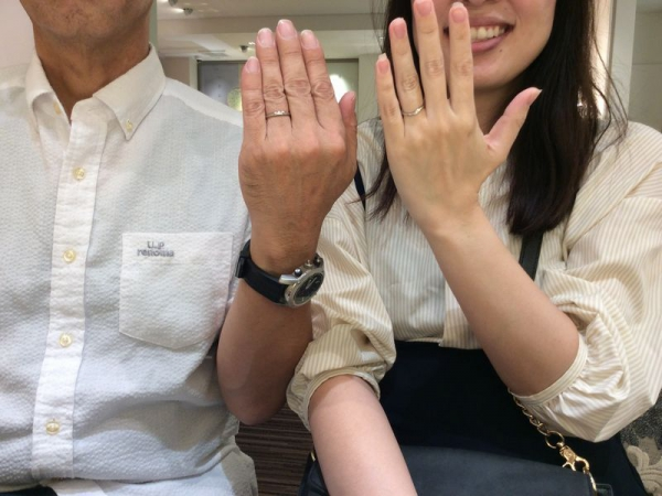 姫路市『パッサージュ・ラパージュ』結婚指輪をご成約いただきました。