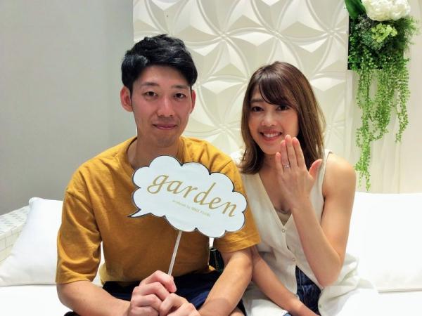 姫路市『gardenオリジナルの婚約指輪とIDEALダイヤモンド』をご成約いただきました。