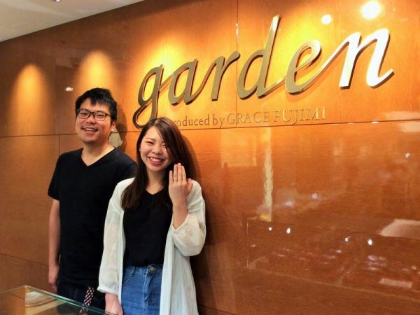 たつの市『gardenオリジナル』婚約指輪をご成約いただきました。