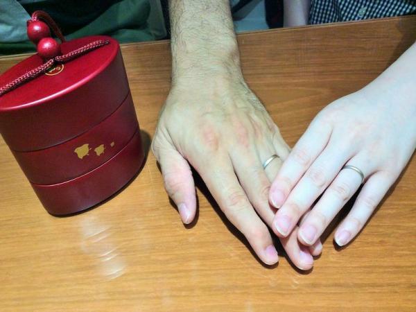 和の結婚指輪ひな