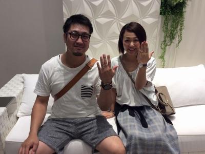 姫路市『ラムレート・美女と野獣』結婚指輪をご成約いただきました。
