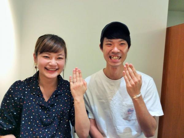 姫路市『ミルク&ストロベリー』の結婚指輪をご成約いただきました。