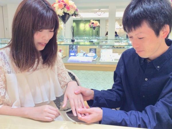 ミルク&ストロベリー結婚指輪アンシャンテ