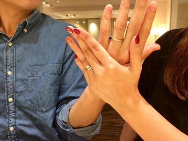 姫路市『ラパージュ』結婚指輪をご成約いただきました。