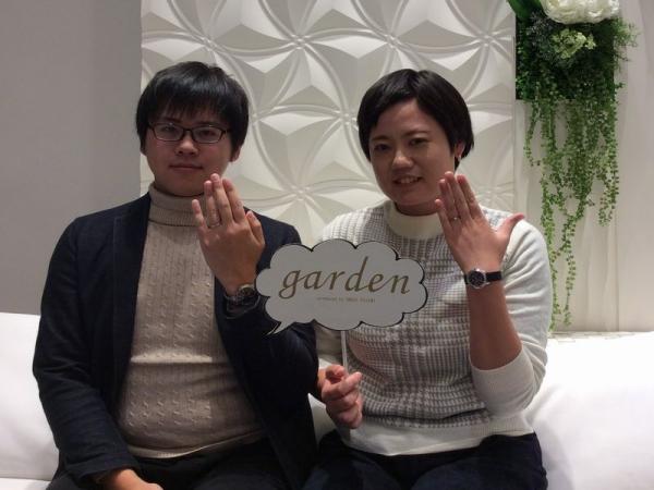 キャンドル結婚指輪マーブル
