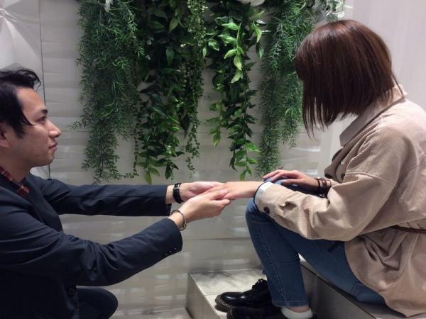 LAPAGEとgardenコラボ結婚指輪デイジー