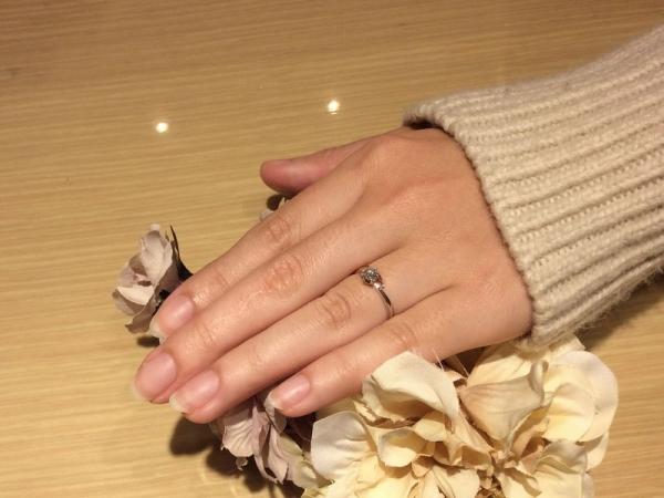 IDEALダイヤモンドをセッティングした婚約指輪