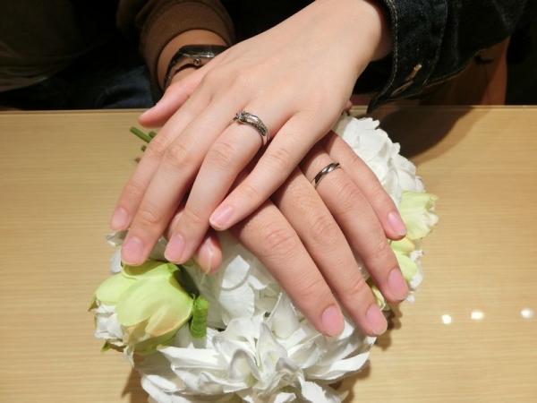 gardenオリジナル婚約指輪と重ねづけ