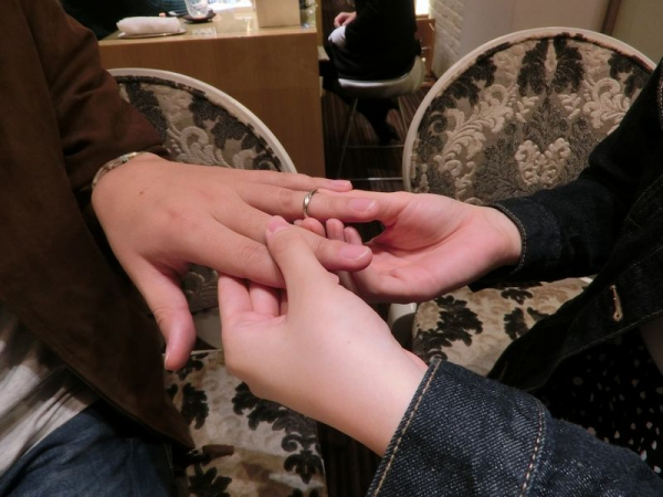 garden姫路で指輪交換