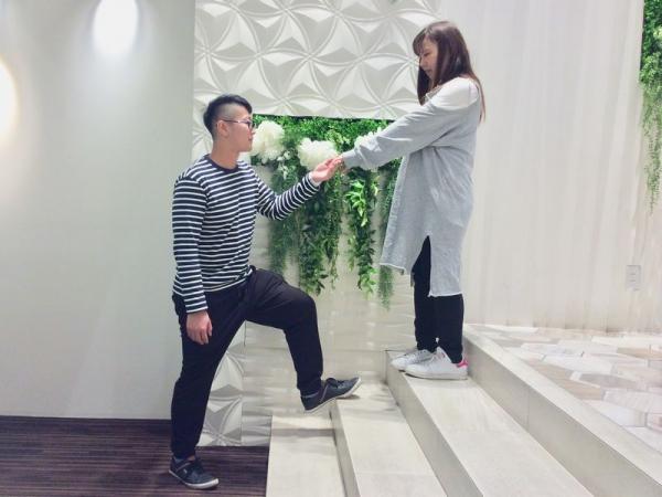 garden姫路でプロポーズ