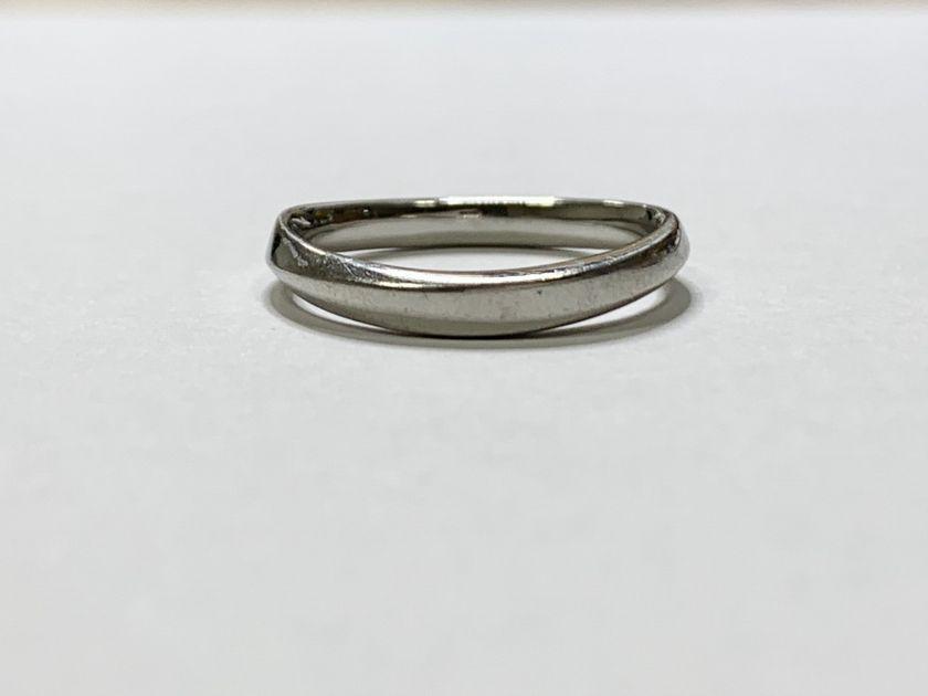 Pt950指輪のサイズ直し