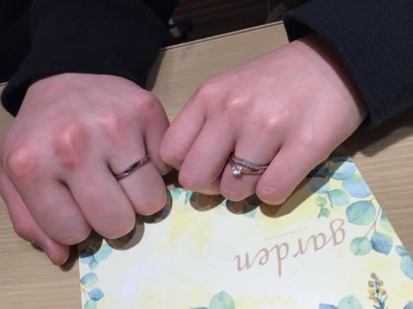 LAPAGE結婚指輪アプリコット
