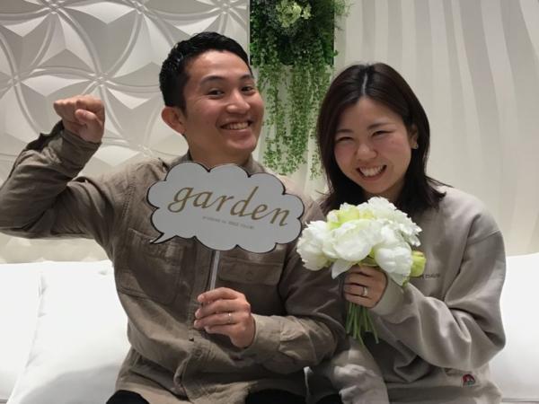 姫路市『gardenオリジナル婚約指輪・フィッシャー結婚指輪』をご成約いただきました。