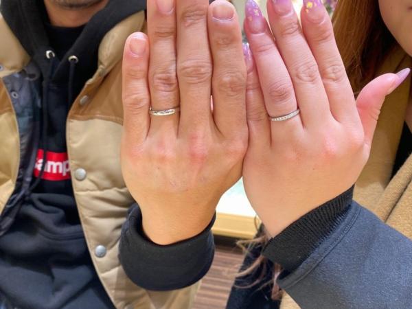 養父市『輝彩』結婚指輪をご成約いただきました。