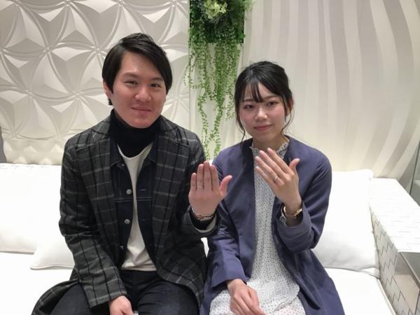 尼崎市『PAVEO CHOCOLAT』結婚指輪をご成約。