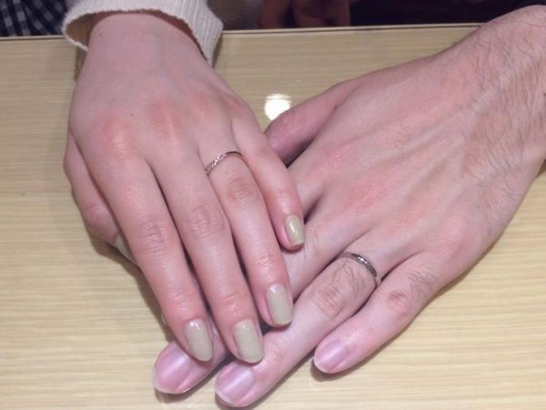 姫路市『マリアージュエント』結婚指輪をご成約