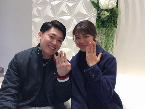 姫路市『OCTAVEとGRACEKAMA』の結婚指輪をご成約いただきました。