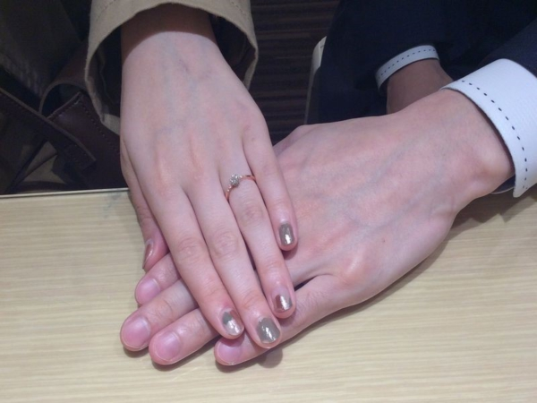 西宮市『gardenオリジナル』婚約指輪をご成約。