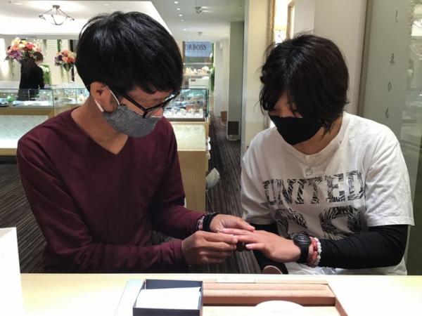 gardenオリジナル婚約指輪とインセンブレ結婚指輪