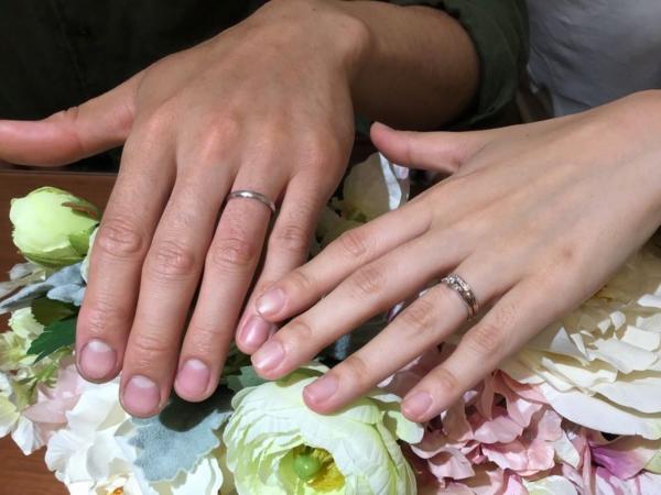 インセンブレとAMOUR AMULET結婚指輪