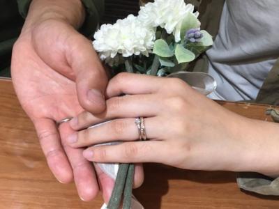 宍粟市『Little garden』婚約指輪をご成約頂きました。