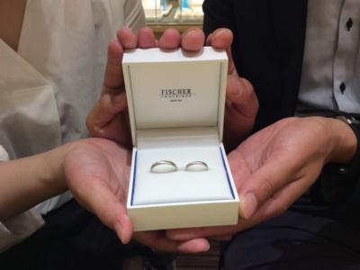 姫路市『FISCHER』結婚指輪をご成約いただきました。