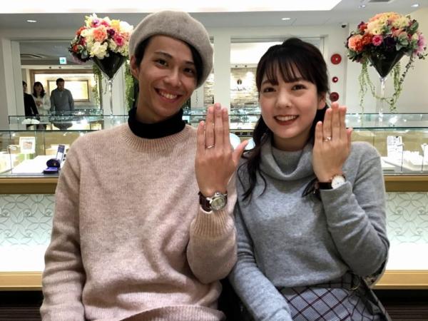 豊岡市「gardenオリジナル」婚約指輪をご成約いただきました。