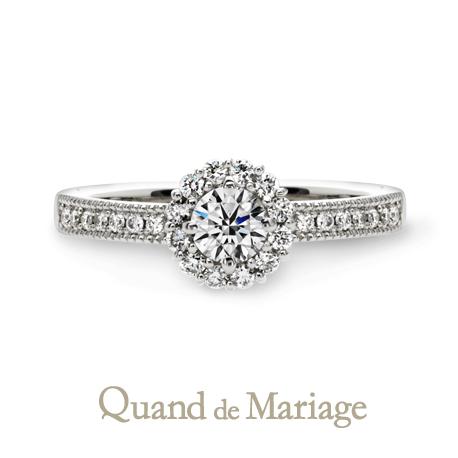 クワントマリア―ジュの婚約指輪オソレイユ