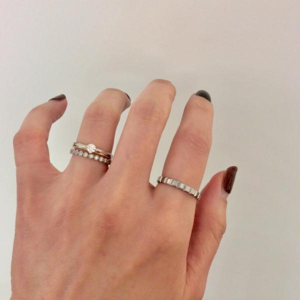 結婚指輪,婚約指輪,重ね付け,シェールラブ