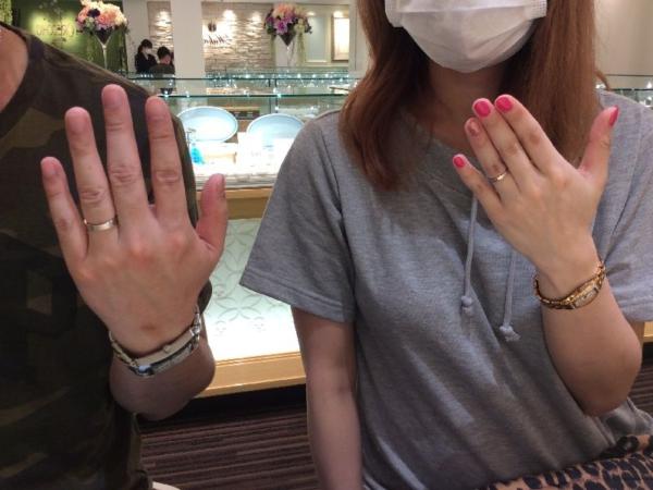 結婚指輪をご成約頂きました