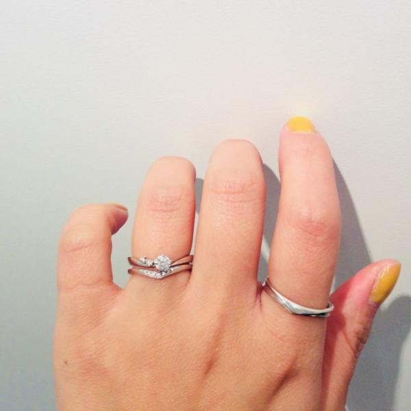 結婚指輪,婚約指輪,重ね付け,ラパージュ,マリアージュエント