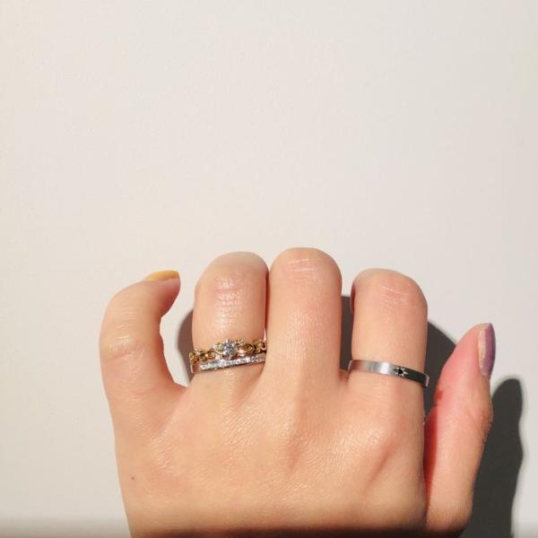 garden姫路で婚約指輪を重ね着け 3
